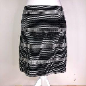 Ann Taylor Loft Check Stripe Shift Skirt; career